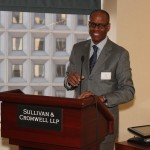 Sullivan & Cromwell partner, Bill Snipes addresses the guests.