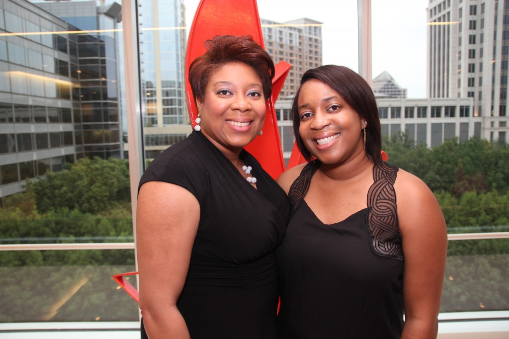 Honoree Veronica Gromada and daughter